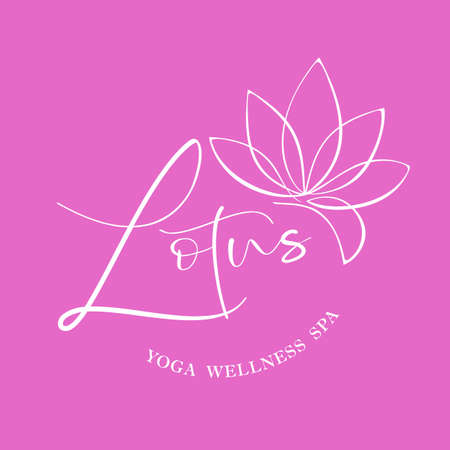 LOTUS. Yoga wellness spa icon template.