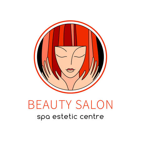 BEAUTY SALON. icon Template. SPA, Fashion, Makeup, Hairdressing Logotype concept icon linear style.