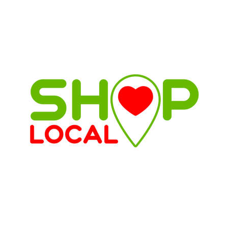 Local shop. Symbol of local production, shops. Template for poster, banner, signboard, web, card, sticker. Made locally. Çizim