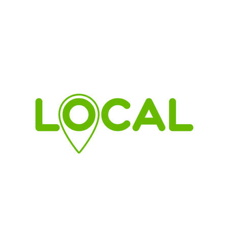 Local. Symbol of local production, business, tourism, shops. Made locally.