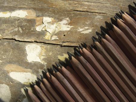 grafito: L�pices de grafito Foto de archivo