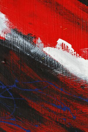 metal wall: Small part of painted metal wall with  blackred and white paint   Colourful abstract backgroundClose up 9