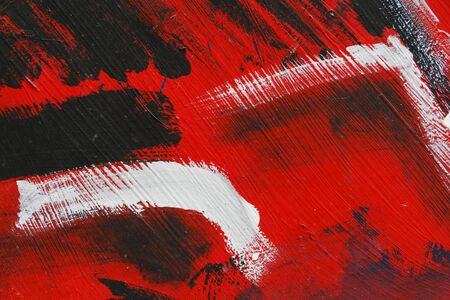 metal wall: Small part of painted metal wall with  blackred and white paint   Colourful abstract backgroundClose up 8 Stock Photo