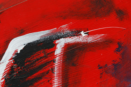 Small part of painted metal wall with  blackred and white paint   Colourful abstract backgroundClose up 5 Stock fotó