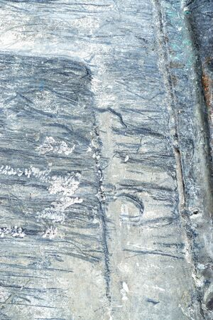 raspy: Old grey rough and scratched metal surface 2 Stock Photo