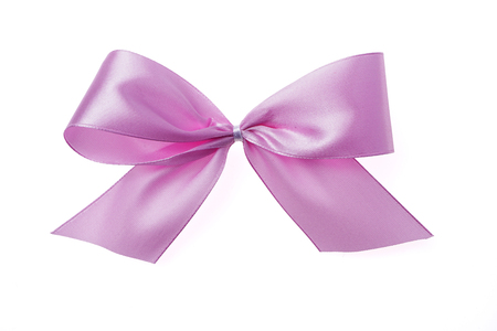 Textile ribbon tied in a bow. Stock fotó