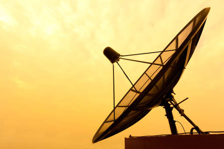 satellite view: Satellite dish Stock Photo