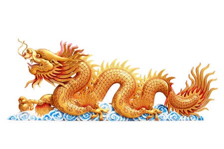 Dragon with white background Stock Photo