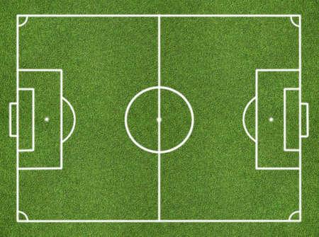cancha de futbol: Campo de f?tbol Foto de archivo
