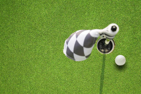 golf hole flag on a field Stock Photo - 11449442