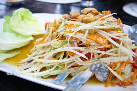 papaya salad with horse crab photo