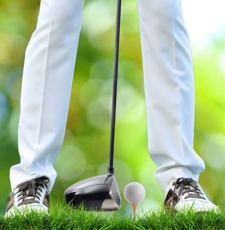 Golfer Tee Off Stock Photo - 14208143