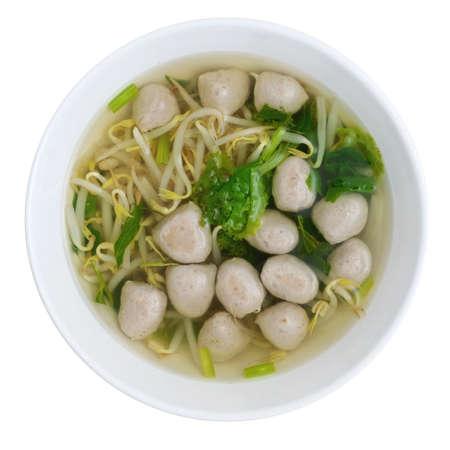 Meatballs Noodle Soup Stock Photo - 14208132
