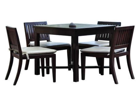 tavolo da pranzo: Tavolo e sedie Archivio Fotografico