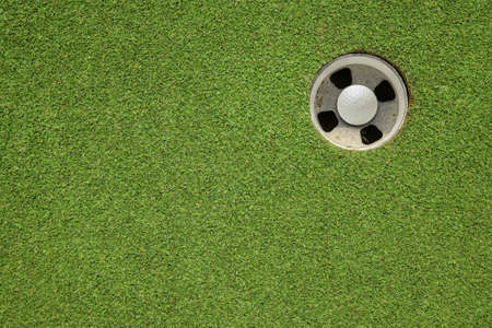 golf hole on a field photo