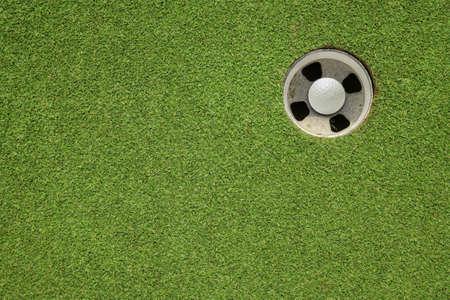golf hole on a field photo