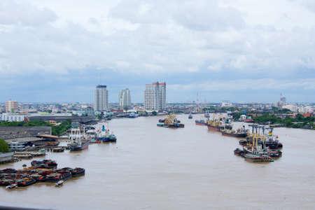 chao praya: Chao Praya River in Bangkok Editorial