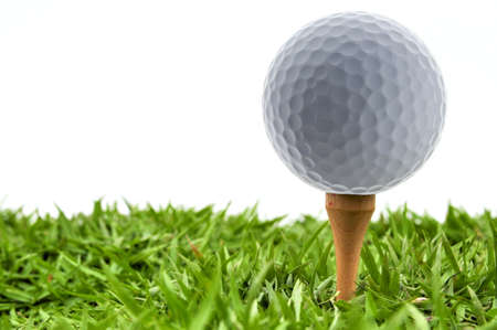 golf ball and grass Stock Photo - 14642892