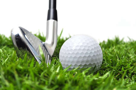 Iron and golf ball Stock Photo - 14642929