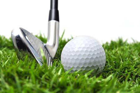 Iron and golf ball Stock Photo - 14642929