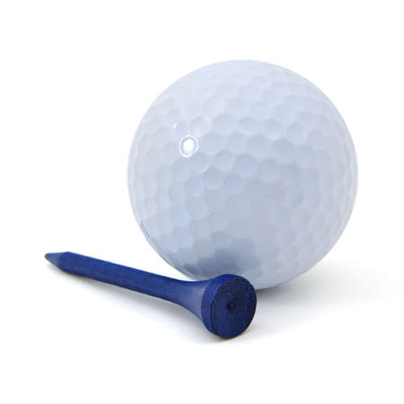 golf ball: golf ball and tee Stock Photo