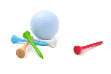 on tee: Golf Ball and Tees