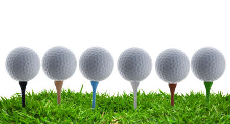 golf ball and grass Stock Photo - 14642887