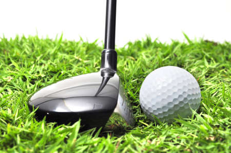 golf wood and ball Stock Photo - 14683012