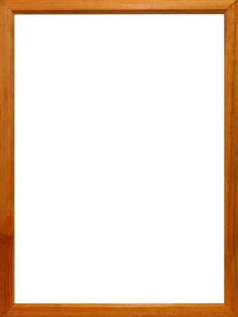 wooden frame: photo frame isolated on white background