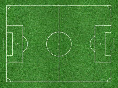 field  soccer: Campo de f?tbol Foto de archivo