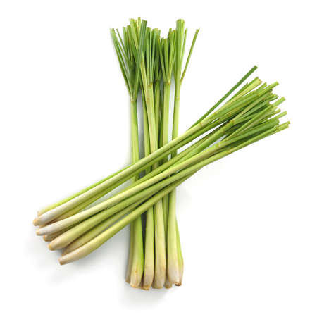 Lemon grass on white background Stock Photo
