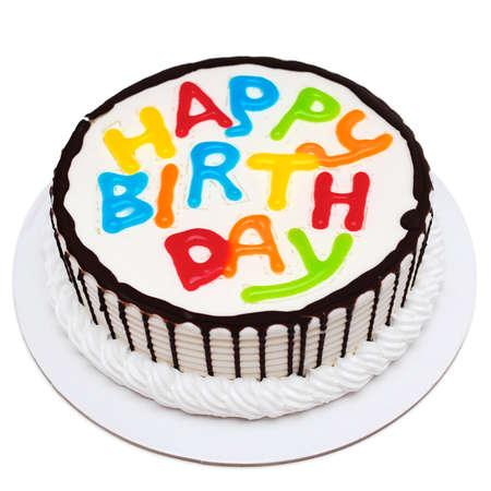 pastel de cumplea�os: Torta de cumplea�os Foto de archivo