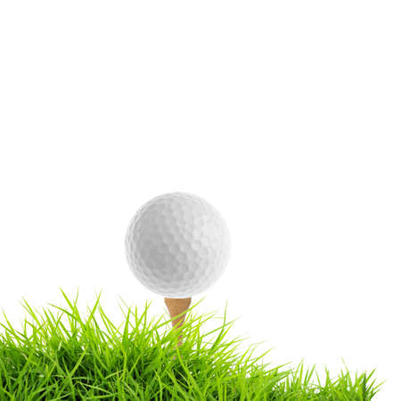 tee: golf isolated on white Stock Photo