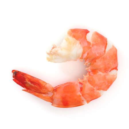 prepared shrimp: shrimp isolated on white