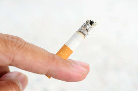 unhealthy living: Cigarette Stock Photo