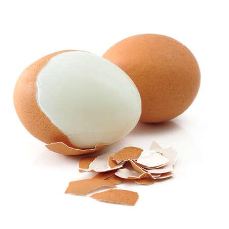 boiled egg: boiled egg isolated on white background Stock Photo