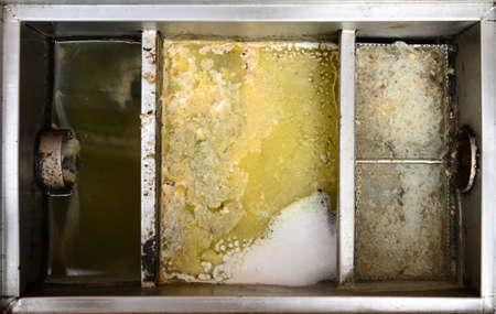 ステンレス鋼グリース トラップ ・ ボックス 写真素材