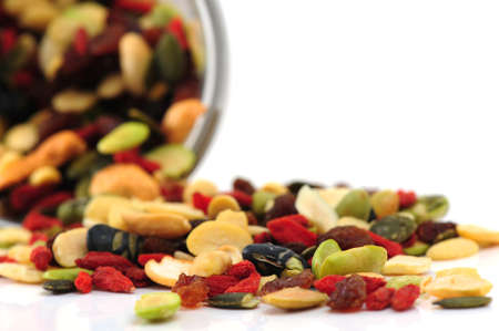 Mixed nuts and dry fruits photo