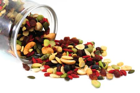 dry fruits: Mixed nuts and dry fruits Stock Photo