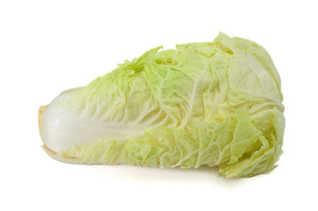 Chinese cabbage isolated on the white background photo