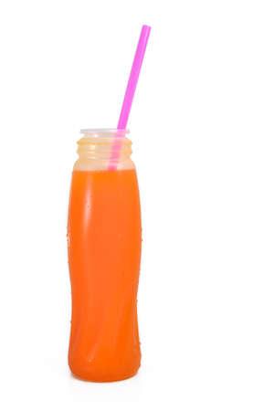 Orange juice bottle  Stok Fotoğraf