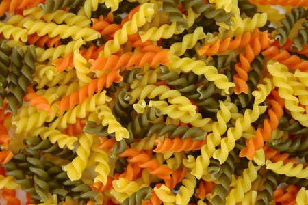 rotini: Rotini pasta background Stock Photo
