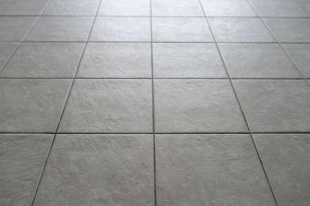Gray Tiled Floor Stock Photo