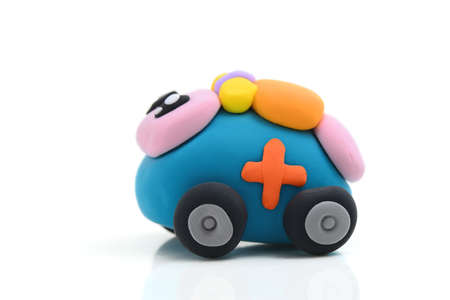 child's play clay: Ambulance made of clay