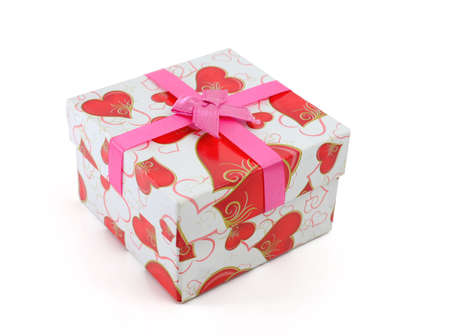 Gift Box with Pink Ribbon Bow photo
