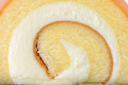 swiss roll: swiss roll cake Stock Photo