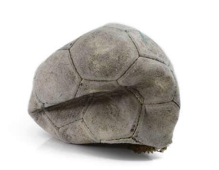 Broken football isolated Stock Photo