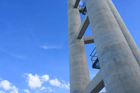 cement pole: Large cement pole