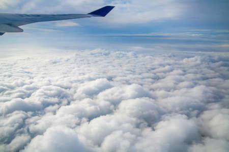 hemel uitzicht vanuit een vliegtuig