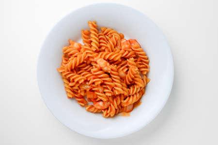 macarrones: macarrones frito con camarones